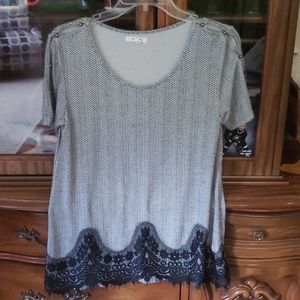 Maurices Lace Hemmed Top